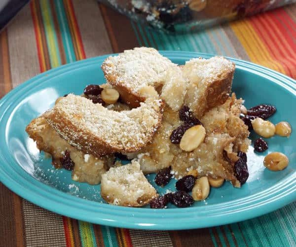 Capirotada is a Mexican Bread Pudding full of cinnamon, fruit, and nuts that is eaten during the religious season of Lent. | www.CuriousCuisiniere.com