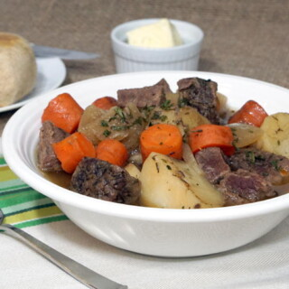 This slow cooker version of a Traditional Irish stew brings simple ingredients together to create an incredibly comforting recipe.   www.CuriousCuisiniere.com