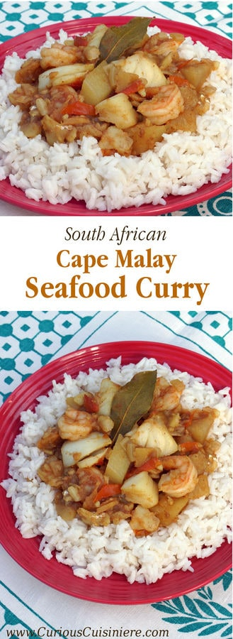 This Seafood Curry is bursting with robust Cape Malay flavors that will transport you to South Africa with every bite. | www.CuriousCuisiniere.com