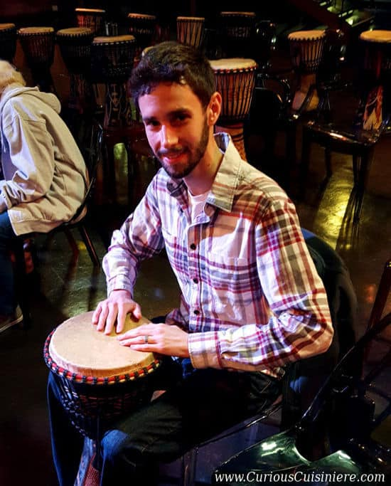 Curious Cuisiniere Djembe Drumming | www.CuriousCuisiniere.com