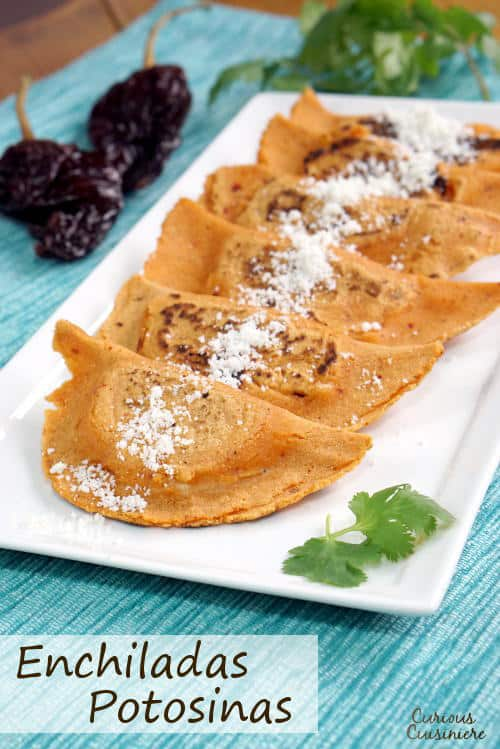 """They might not look like """"classic"""" enchiladas, but the chili-seasoned dough of these Enchiladas Potosinas makes them a unique and tasty treat. 