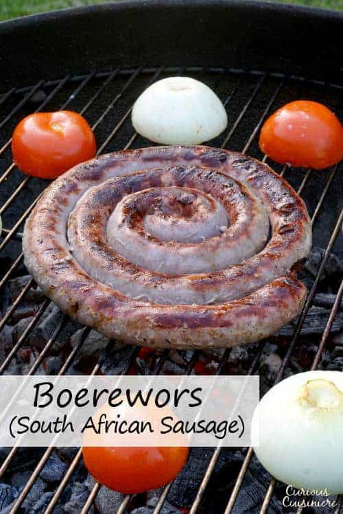Robust and flavorful South African Boerewors is the sausage you need for your next grilling party! | www.CuriousCuisiniere.com