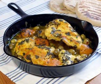 Djaj Mqualli (Moroccan Preserved Lemon Chicken Tagine)