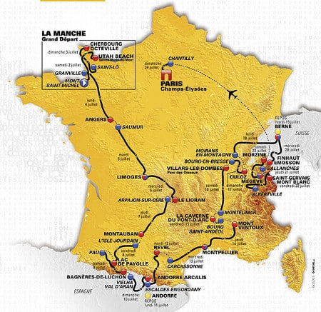 Tour De France Map Route 2016