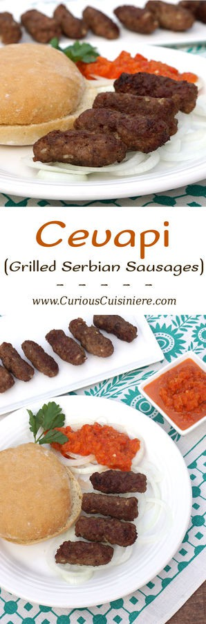 Cevapi grilled serbian sausages curious cuisiniere cevapi are easy to make grilled sausages from southeastern europe that burst with smoky flavor forumfinder Images