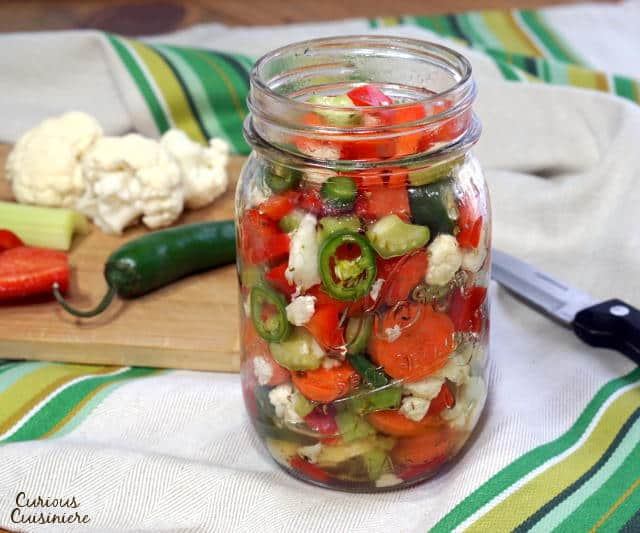 Giardiniera Italian Pickled Vegetables Curious Cuisiniere
