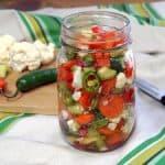 Giardiniera (Italian Pickled Vegetables) #SundaySupper