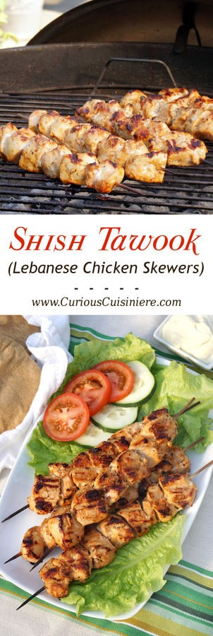 Shish tawook lebanese chicken skewers curious cuisiniere lemon and garlic bring a burst of flavor to these grilled chicken skewers middle eastern forumfinder Gallery