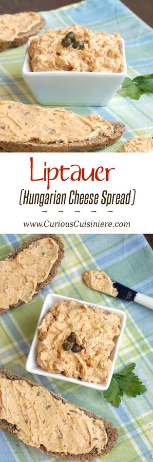Bring a touch of Hungary to your next appetizer spread with Liptauer, a seriously addicting, paprika-infused cheese spread. It's perfect for game day or a fancy appetizer party, and everything in between! | www.CuriousCuisiniere.com