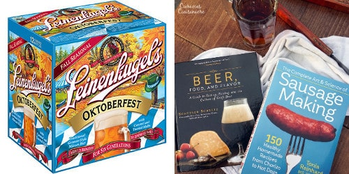 Win the ultimate beer and sausage Oktoberfest giveaway. | www.CuriousCuisiniere.com