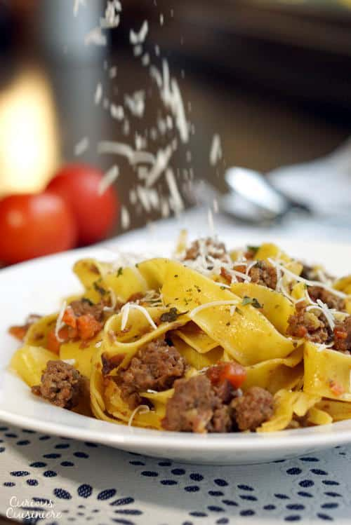 Authentic Bolognese Sauce is a hearty and flavorful meat sauce that is the perfect recipe for Italian comfort food!   www.CuriousCuisiniere.com