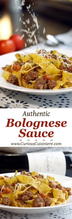 Authentic Bolognese Sauce is a hearty and flavorful meat sauce that is the perfect recipe for Italian comfort food! | www.CuriousCuisiniere.com