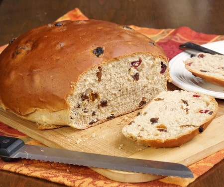 Barmbrack (Irish Fruited Halloween Bread)