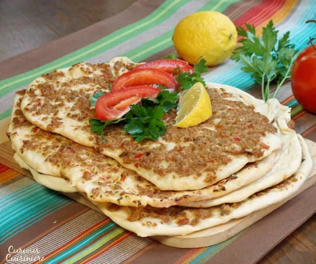 Lahmacun (Turkish Pizza) #SundaySupper • Curious Cuisiniere