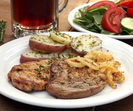 Schwenkbraten (Grilled German Pork Chops) #SundaySupper