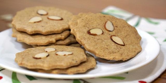 Crispy Dutch spice cookies.