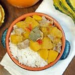 This creamy, Thai Pumpkin Curry recipe brings the comforting flavors of fall into one easy meal, perfect for a weeknight dinner. | www.CuriousCuisiniere.com