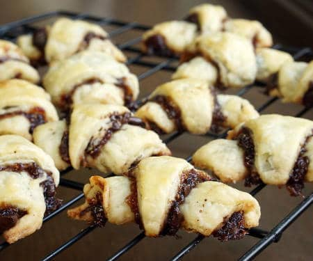 Rugelach with Two Fillings (Chocolate Raspberry and Walnut Cinnamon)