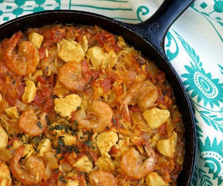 Easy Shrimp and Chicken Paella