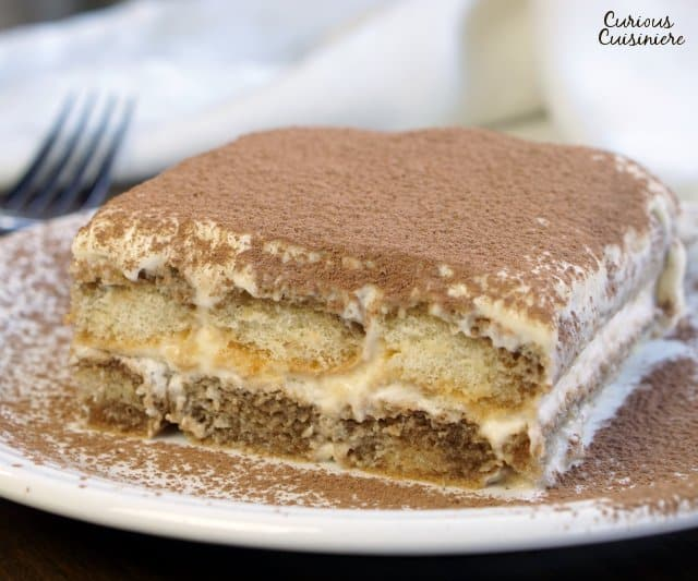 There are many ways to make Italian Tiramisu, but our authentic Tiramisu recipe might surprise you with its light texture and how simple it is to make! | www.CuriousCuisiniere.com