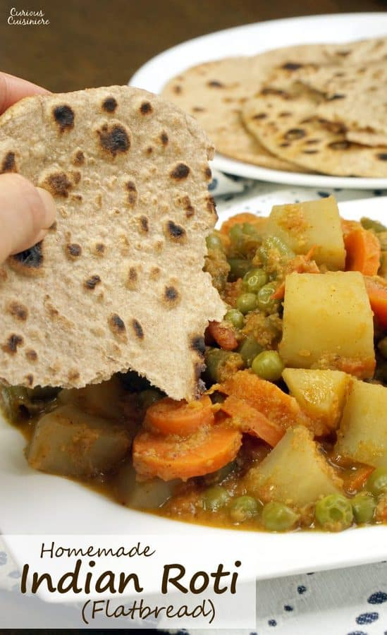 This one recipe will let you make Indian Roti, Chapati, and Puri. Get ready to learn how easy and fun it is to make Indian flatbread! | www.CuriousCuisiniere.com