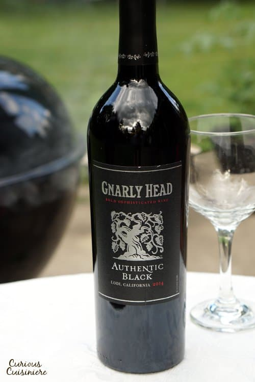 If you're looking for the perfect wine to pair with summer grilled and smoked meats, look no further than the dark and juicy Authentic Black wine from Gnarly Head! | www.CuriousCuisiniere.com