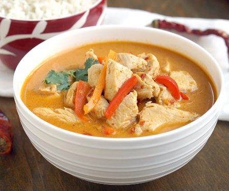 Thai Red Curry is a creamy and flavorful curry that is incredibly versatile and easy to make. It's the perfect weeknight dinner! | www.CuriousCuisiniere.com