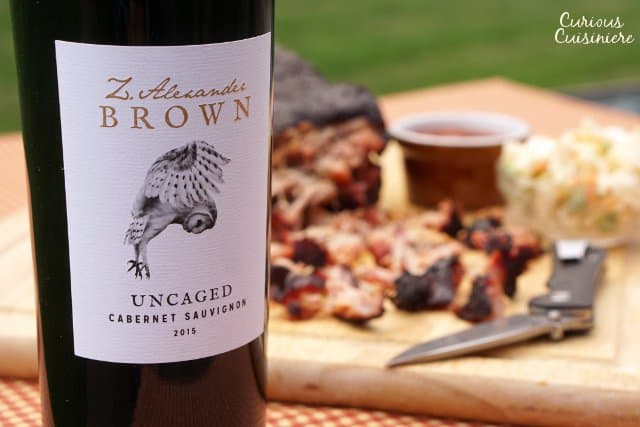 Smoked pork and wine pairing. Summer grilling. Memphis style BBQ pork. | www.CuriousCuisiniere.com
