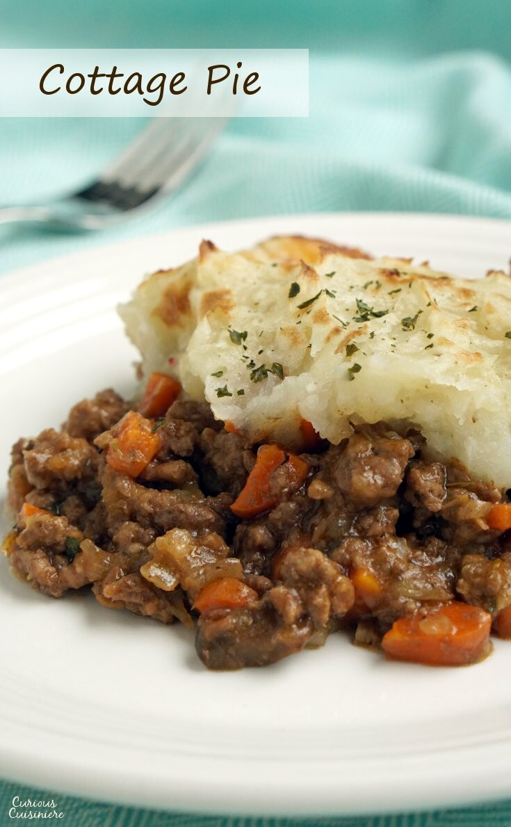 What most of us think of as Shepherd's Pie is actually Cottage Pie. This easy recipe is very adaptable and perfect for a comforting dinner.