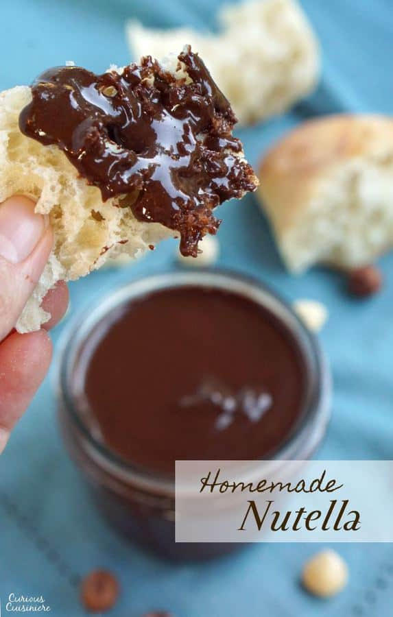 It may surprise you how easy it is to make Homemade Nutella. It's so quick and simple, we bet you'll be adding this Chocolate Hazelnut Spread to everything! | www.CuriousCuisiniere.com