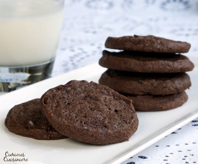 Chocolate Sable Cookies • Curious Cuisiniere