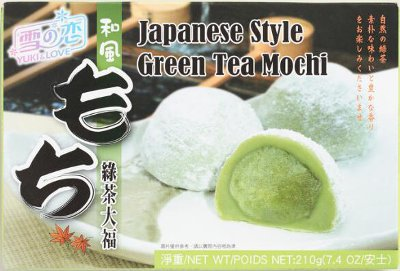 Japanese Green Tea Mochi make quite a fun stocking suffer treat!