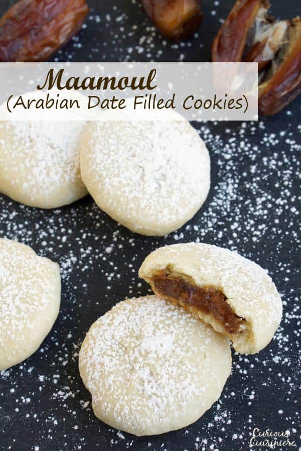 Maamoul Cookies are melt in your mouth, date filled cookies that are low in sugar but robust in flavor. | www.CuriousCuisiniere.com