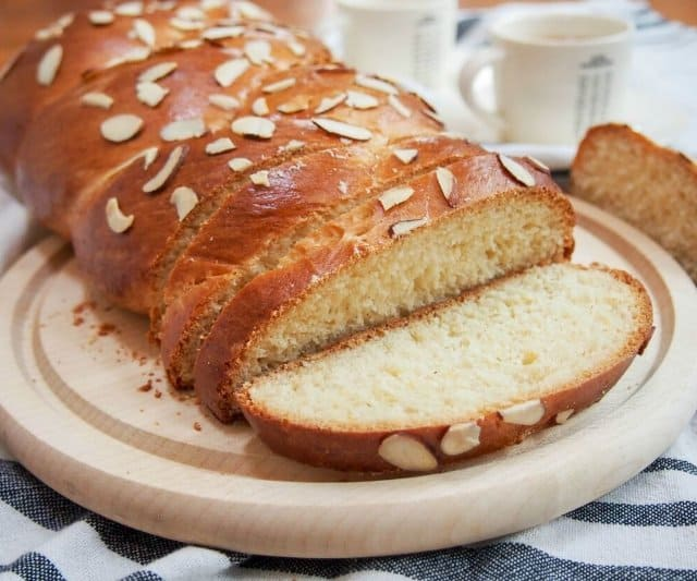 One of the big preparations for Greek Easter is baking tsoureki, is a sweet bread traditionally spiced with a mahleb.