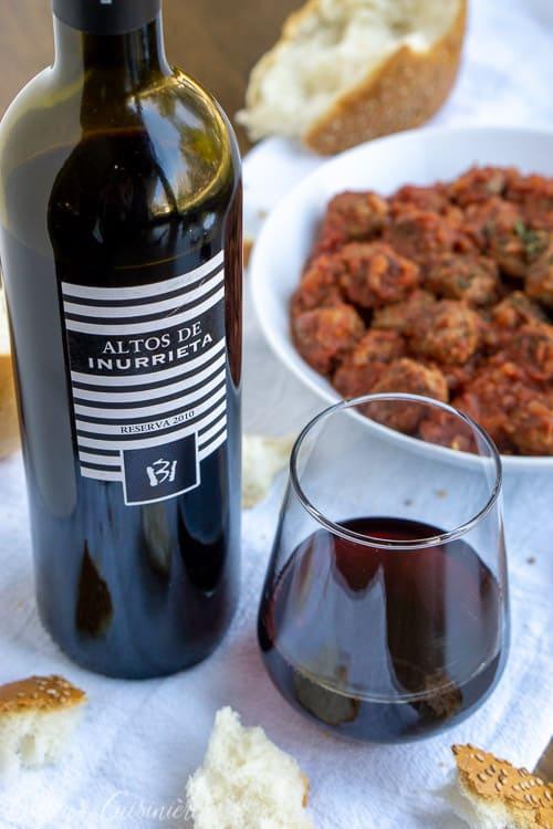 Navarra Wine With Albondigas Tapas Spanish Meatballs | Curious Cuisiniere