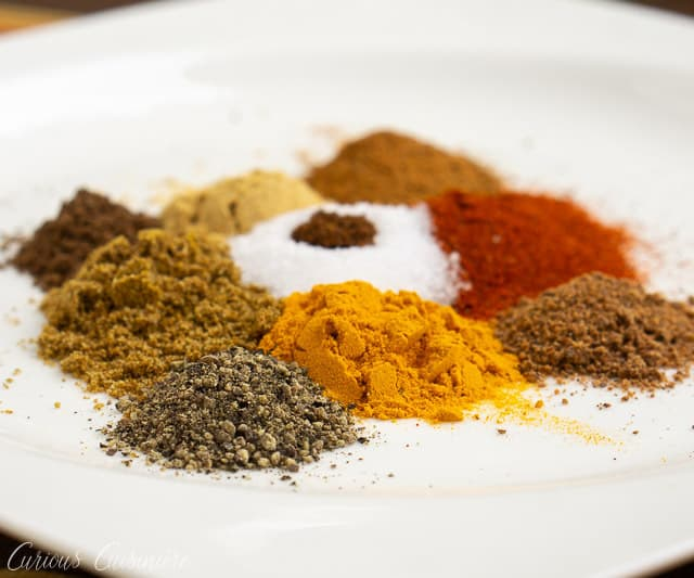 If you love warm and comforting flavors, then you need to dive into Moroccan cuisine and give the Moroccan spice mix, Ras el Hanout a try. This blend of spices is robust in flavor, but not too spicy. It is wonderful to use with meat and veggies alike! | www.CuriousCuisiniere.com
