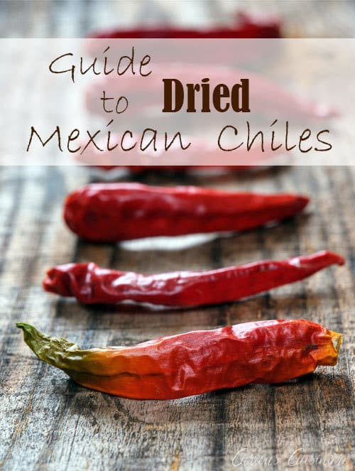 From chipotles to ancho, guajillos to cayenne, and so many more, here's what you need to know about some of the more commonly found dried Mexican chiles and how to use them! | www.CuriousCuisiniere.com #chilepepper #driedchiles #mexicancooking