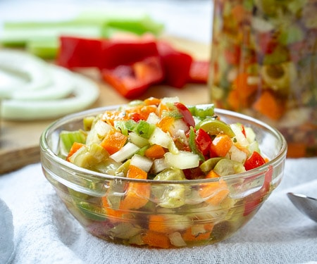 Chicago Style Hot Giardiniera Relish