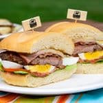 Chivito (Uruguayan Steak and Egg Sandwich)