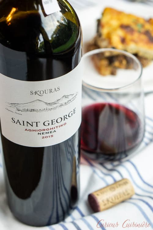 Greek Wine Pairing for Moussaka | www.CuriousCuisiniere.com