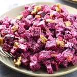 Russian Beet Salad with Prunes and Walnuts