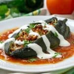 Baked Chiles Rellenos With Chorizo