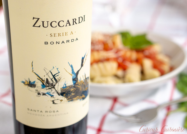 Zuccardi Serie A Bondara wine paired with Argentinian Noqui con Tuco Gnocchi with Tomato Sauce | www.CuriousCuisiniere.com