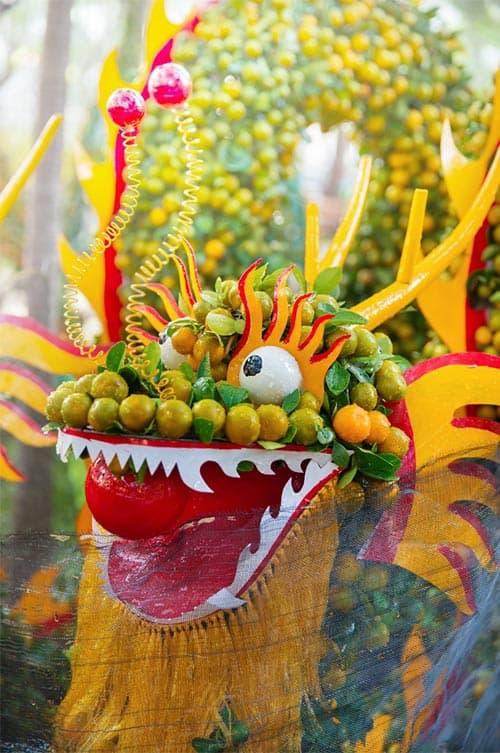 Green Chinese festival dragon
