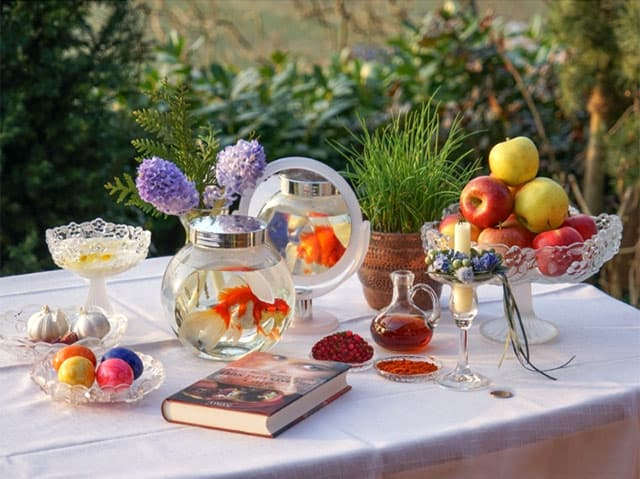 A haft-sin for Nowruz.