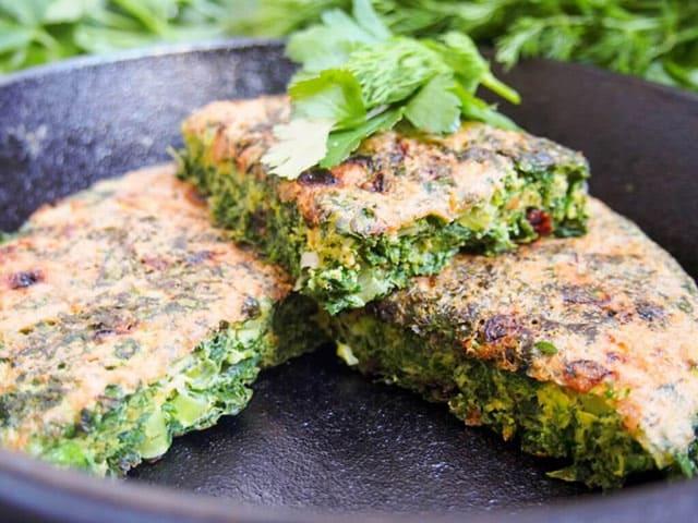 'Kuku sabzi' -Persian herb frittata