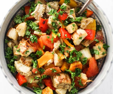 Khorovats (Armenian Grilled Vegetables) as a salad