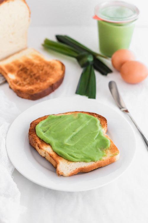 Pandan Coconut Egg Jam on toast