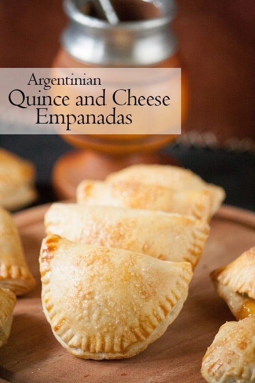These Argentinian cheese and quince empanadas have a delicate, crispy crust filled with a sweet and savory mixture of quince paste and cheese.