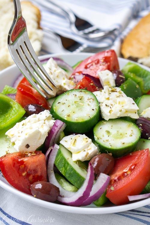 Greek Salad Horiatiki Recipe